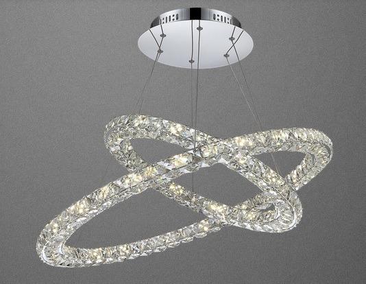 Lampa Kryształowa Owalna Globo Marilyn 67038-64