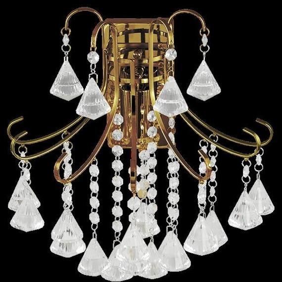 Lampa Ścienna kryształowa Elem Barcelona 6248/1 TR złota