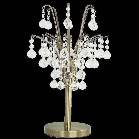 Lampa Stolikowa kryształowa Elem Barcelona 6247/1D 21QG mosiądz