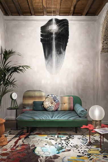 Lampa wisząca SLAMP AVIA S black