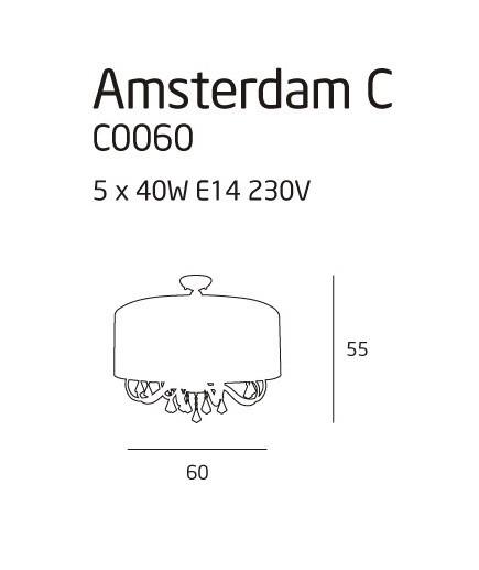 Plafon MaxLight AMSTERDAM C0060