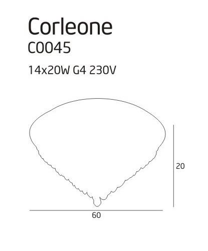 Plafon MaxLight CORLEONE C0045