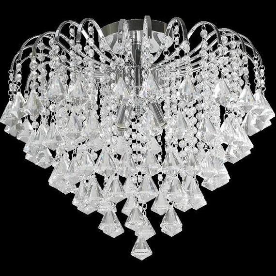 Plafoniera kryształowa Elem Belweder 5193/4 8C chrom